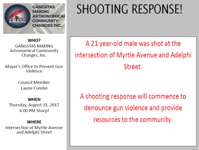 shooting response Myrtle Ave