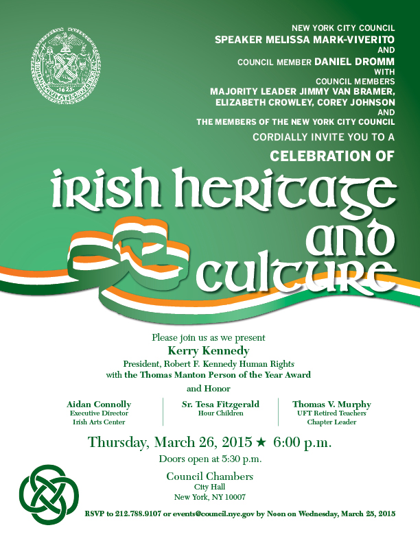 3/26 Event: Celebrate Irish Heritage and Culture | New ...