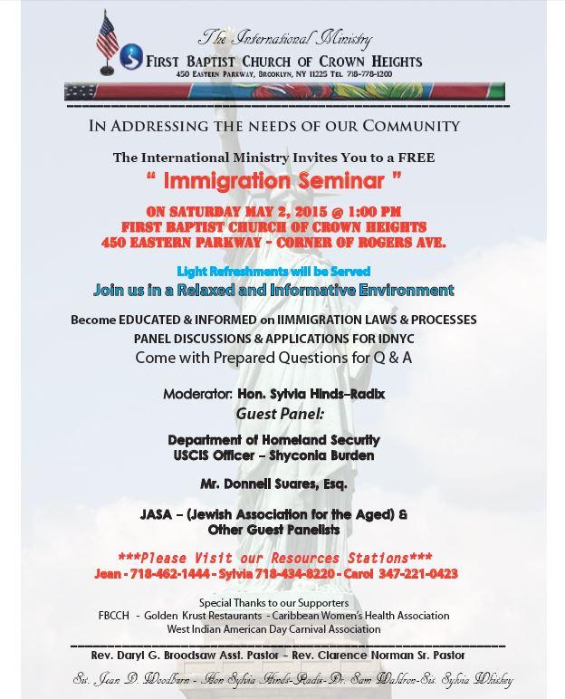 Immigration Flyer 2015