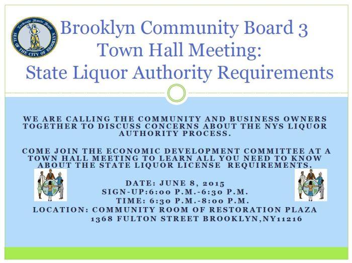 Brooklyn Community Board Three Town Hall Meeting-SLA 3.20.15