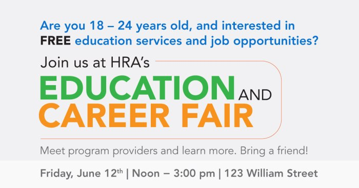 HRA Career Fair Flyer