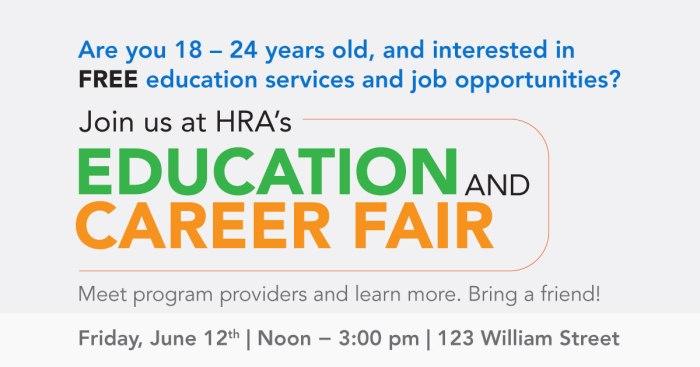 HRA Career Fair Flyer