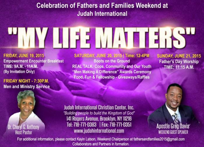 My Life Matters event
