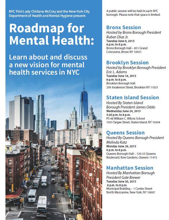Roadmap for Mental Health Flyer