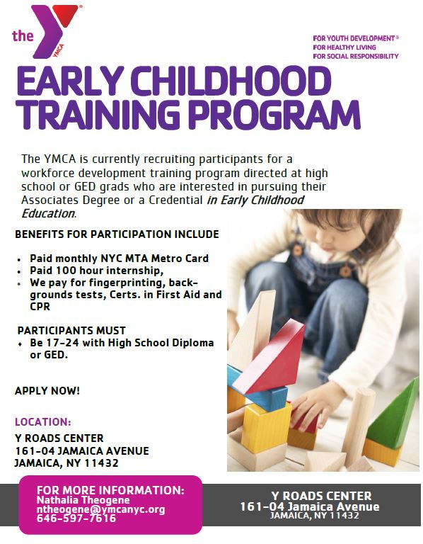 employment: ymca early childhood training program | new york city ...