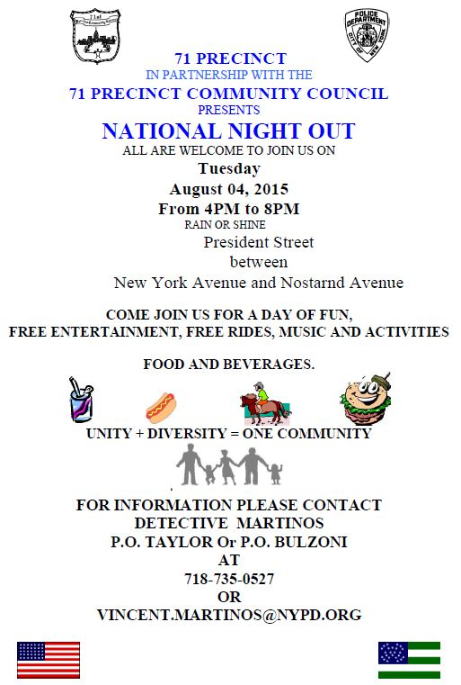 71st Pct National Night Out
