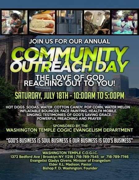 Washington COGIC Community Outreach Day