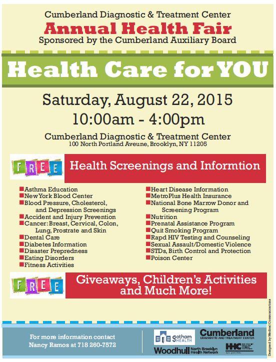 Cumberland 2015 Health Fair