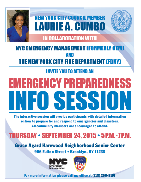 Emergency Preparedness Info Session