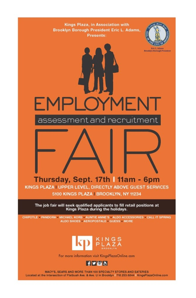 employment fair at kings plaza on sept 17