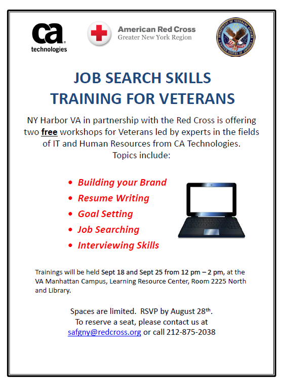Job Search Skills Training 18 and 25 Sept 2015