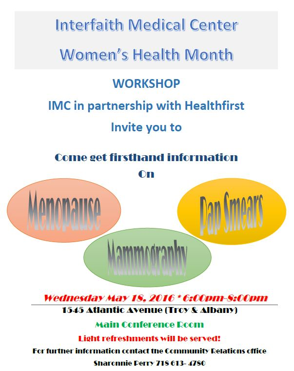 imc womens health workshop