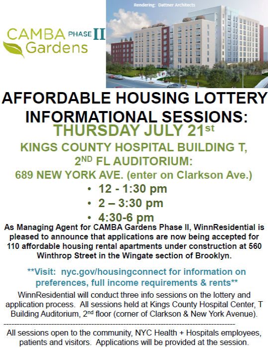 Affordable Housing Lottery Informational Sessions | New ...