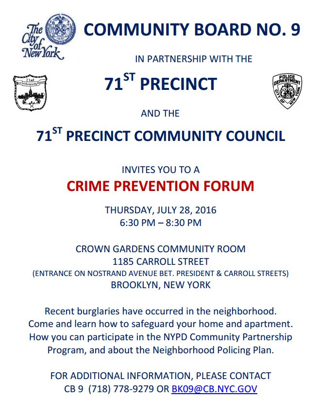 71st Precinct Community Council