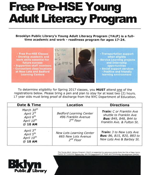 adult literacy prgm