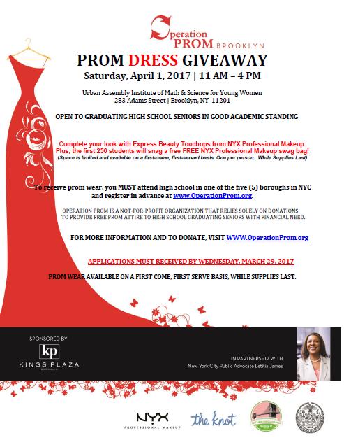3/29 application deadline: Prom Dress Giveaway | New York City ...