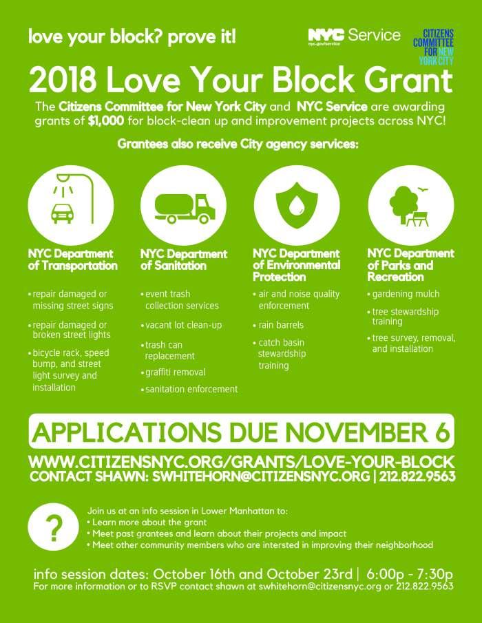 2018 Love Your Block Flyer