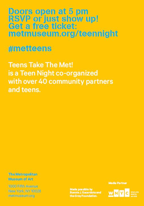 teens take the met 2