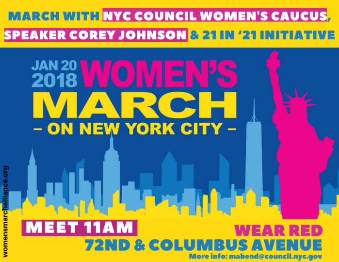 1/20 Event: Women's March on New York City