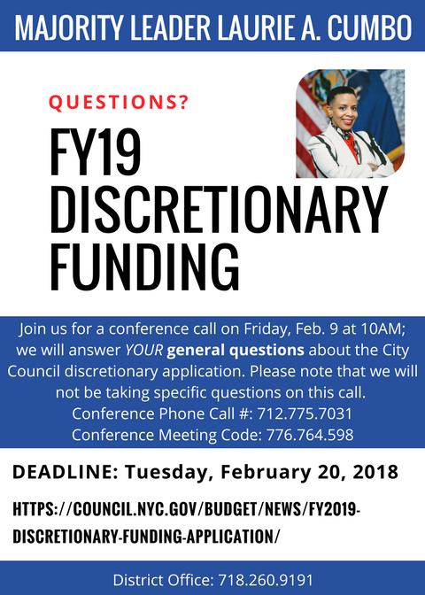 Phone Call_discretionary funding_2.9.18_10AM