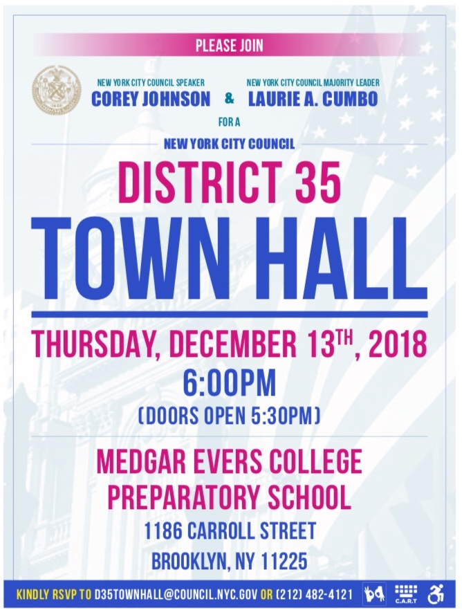 Speaker Town Hall flyer